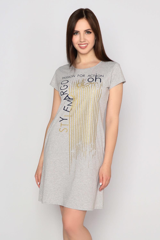 Платье Азарт, серое