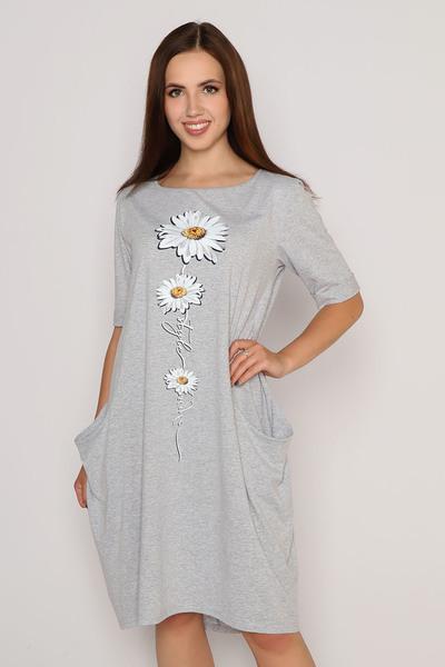 Платье Роман, светло-серое
