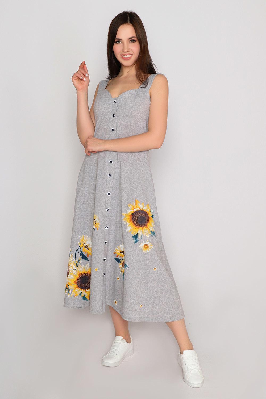 Платье Подсолнух, серое