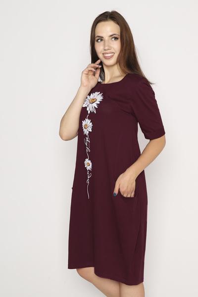 Платье Роман, бордовое