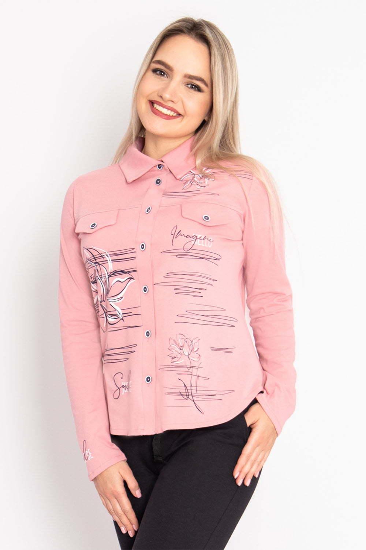 Рубашка Анжела, Пудровая
