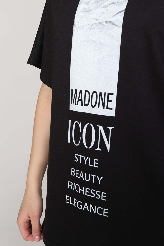 Футболка Мадонна, Черная