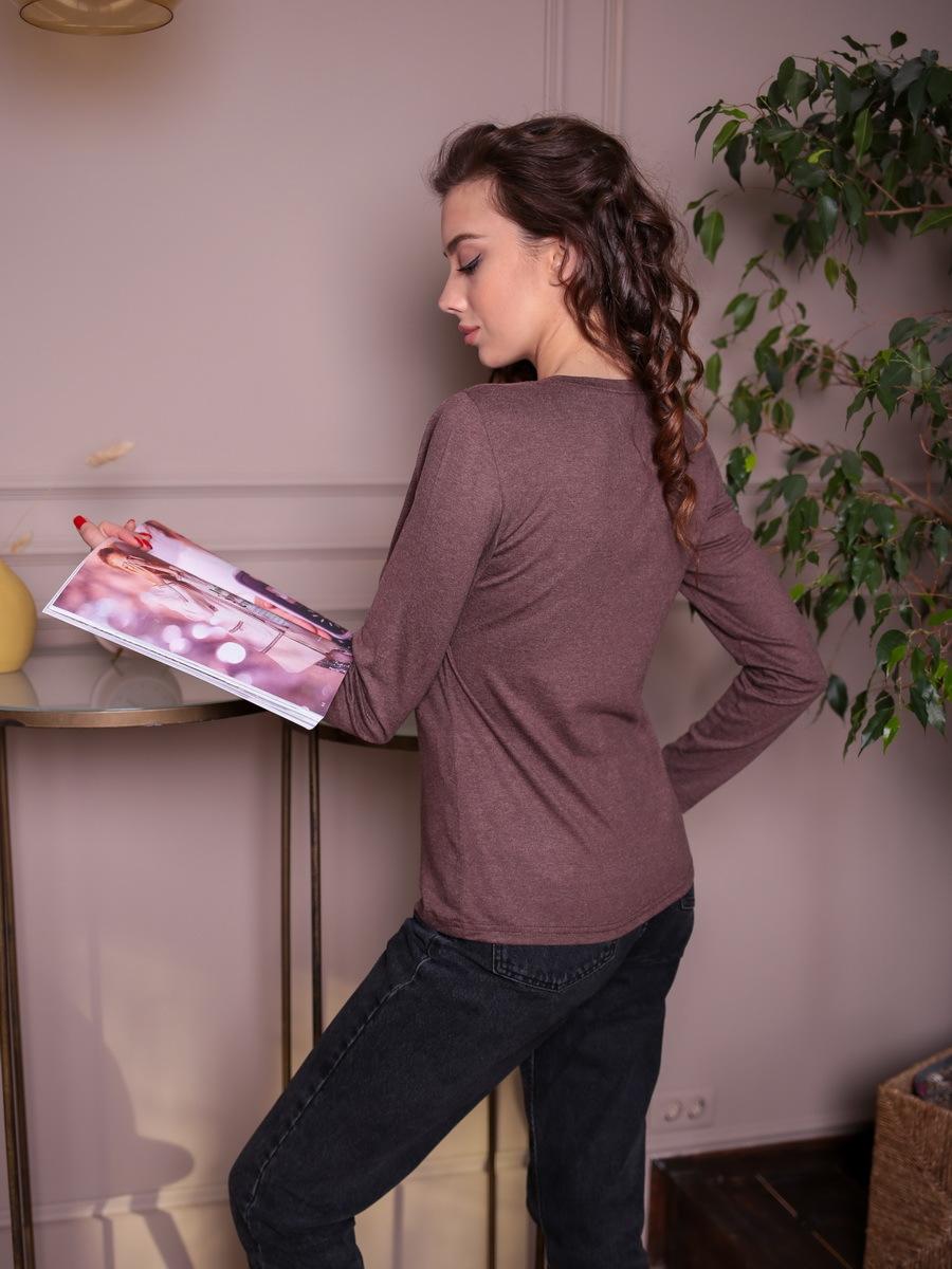 Блуза БЖ-65, Шоколадная