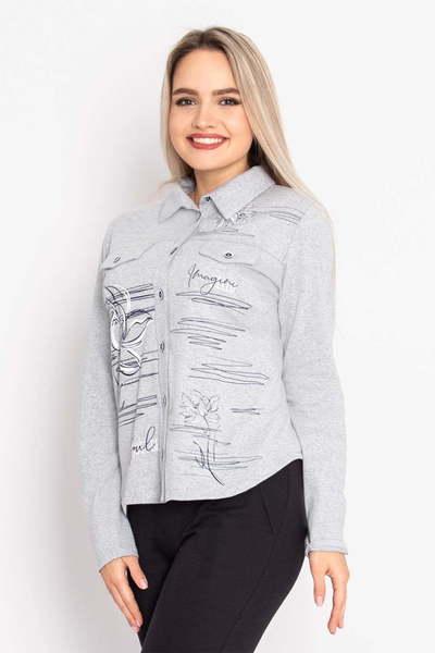 Рубашка Анжела, Серая