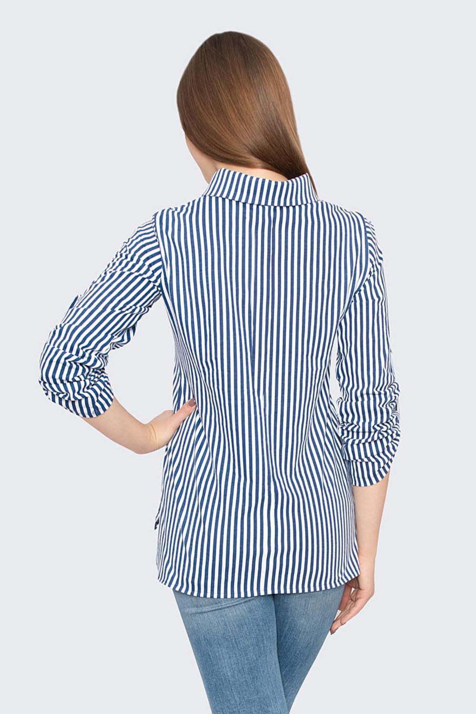Рубашка Офис, Голубая
