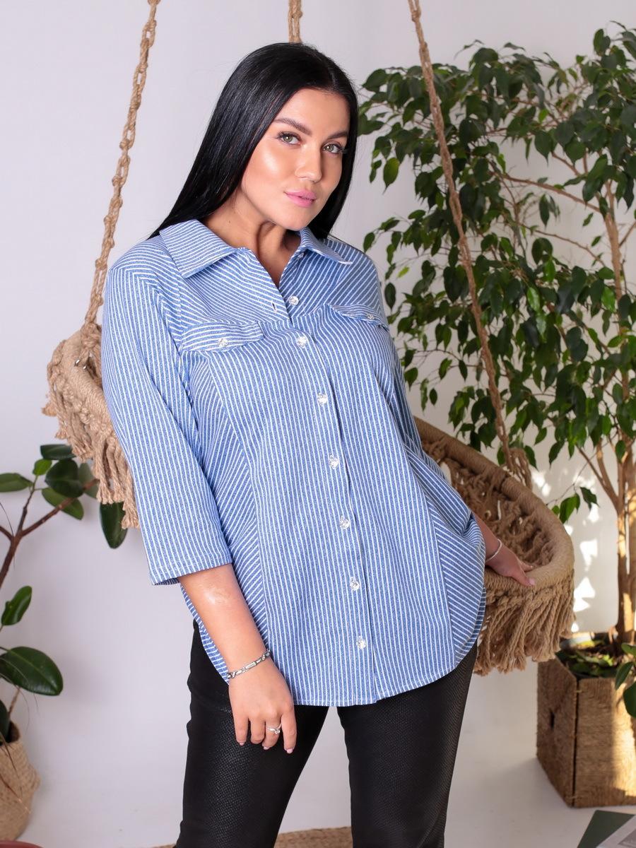 Блуза БЖ-67, Голубая